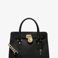 Hamilton Saffiano Leather Medium Satchel | Michael Kors