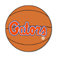 Florida Gators NCAA Basketball Round Floor Mat (29) Gator Script