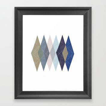 Not Your Father's Argyle Framed Art Print by enframe photography