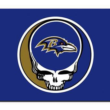 Baltimore Ravens Stealing Your Face flag 90x150cm polyester Custom banner with 2 Metal Grommets 3x5ft