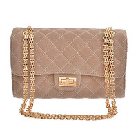 Grand Design Quilted Purse in Tan | MACA Boutique