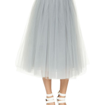 Everleigh Tulle Circle Skirt, Pale