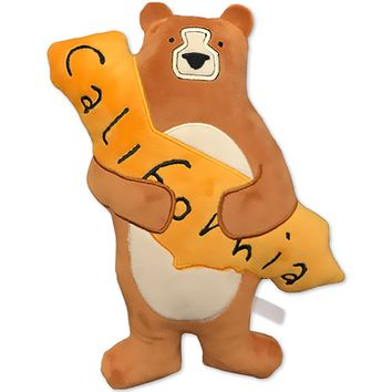 I Love You California Bear Plush Pillow