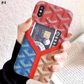 Goyard Tide brand color matching iphone xs max phone case #4