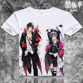 Black Butler Short Sleeve Anime T-Shirt V14