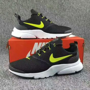 NIKE V3 Casual Sports Shoes running shoes Sneakers Black-white soles (green hook) H-CS
