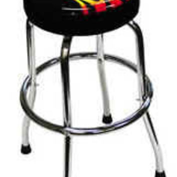 Shop Stool with Flame Design