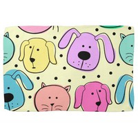 Cute Colorful Pet Pattern Kitchen Towel