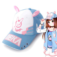 Dva Novelty Cartoon Printed Baseball Cap With Rabbit Ear