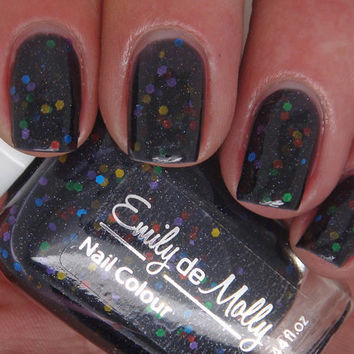 Nail polish  Muted Madness rainbow glitter in a by EmilydeMolly