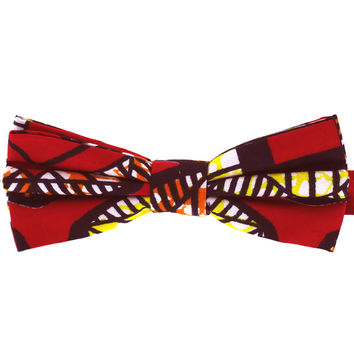 Tok Tok Designs Children Bow Tie for 2 - 8 Years (BK386, Genuine African Wax Fabric)