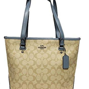 Coach Signature Zip Top Tote COACH bag