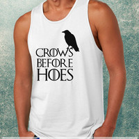 Crows Before Hoes, Game Of Thrones Clothing Tank Top For Mens