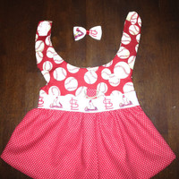 Red & White Baseball Dress Dog Clothes Toy Breed Made to Order
