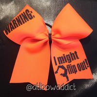 Cheer Bow - Warning