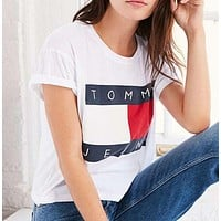 Tommy Jeans Print Short Sleeve T Shirt Tops
