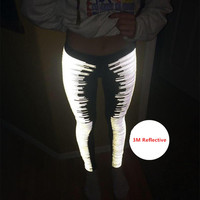 Mermaid Curve Yoga Women Sport Leggings Fitness Surper Stretch Legging 3M Reflective night Running Training Leggings