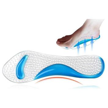 ICIK272 2Pcs=1Pair Silicone Gel Insole Of Flatfoot Arch Support Cushion Pads Orthopedic Protector Insoles For Shoes Massage Gel Pads