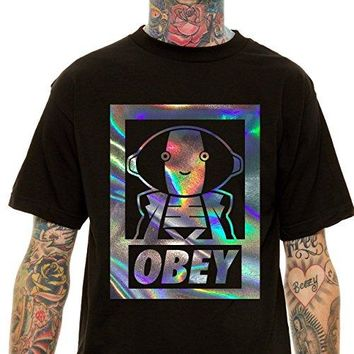 Zen oh Sama OBEY Holographic T-shirt