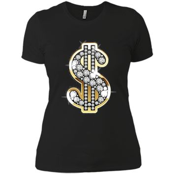 Diamonds Gold Dollars Bling T-Shirt