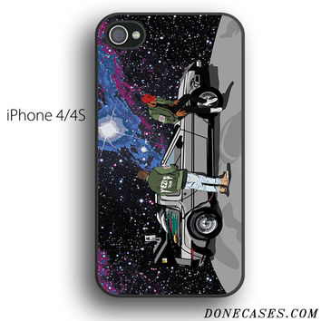 back to future on moon yeezus tour case for iPhone 4[S]