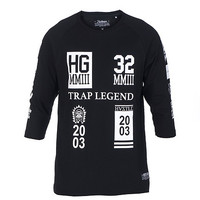 TRAP LEGEND KNIT TOP - Black - HUSTLE GANG
