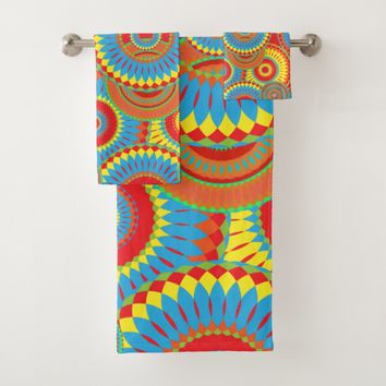 Folk Art Circles Bath Towel Set