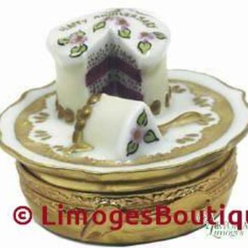 Anniversary Cake: Gold Limoges Boxes