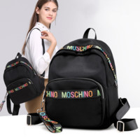 Moschino Fashion New colorful letter high capacity travel backpack bag women Black