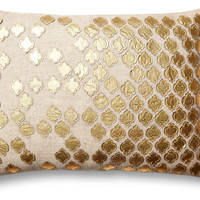 Verona Linen Blend 14x20 Pillow, Gold, Decorative Pillows