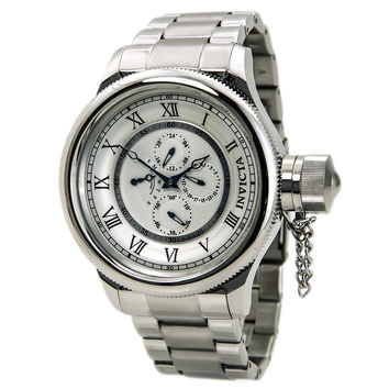 Invicta 15930 Men's Russian Diver Chronograph Antique Silver Dial Stainless Steel Watch