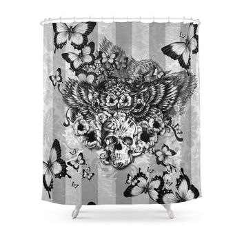 Shop Sugar Skull Shower Curtain on Wanelo