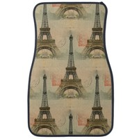 Eiffel Tower Postcard Car Mats