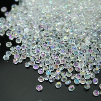 10000pcs/bag 2.5mm AB-clear color Acrylic Diamond Confetti wedding decoration Table Scatter Decoration bridal shower