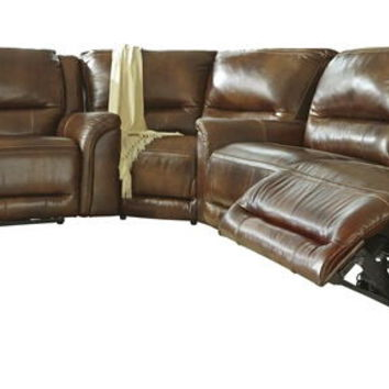 3 pc Jayron collection harness leather match upholstered sectional sofa set with power recliners