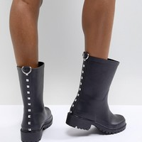 ASOS DESIGN Gravel Studded Gumboots at asos.com