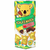 Lotte Koala Cookies, Chocolate Filled 1.4 oz. (41g)