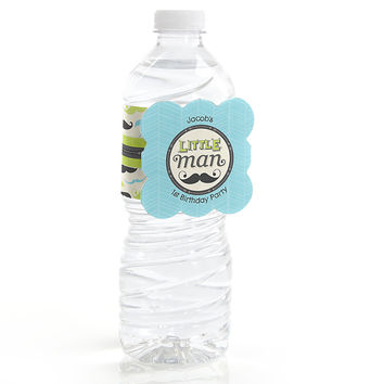 Dashing Little Man - Personalized Birthday Party Water Bottle Label Favors
