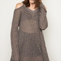 Mocha & Lace Sweater - FINAL SALE