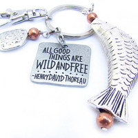 Father's Day Gift, Fisherman's Keychain, Gift for Him