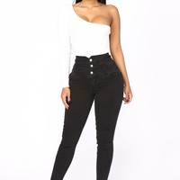 For The Long Run Skinny Jeans - Black