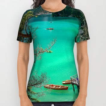 Pragser Wildsee All Over Print Shirt by Gallery One