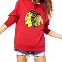Red Indian Head Print Sweater