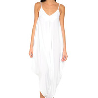 Ivory jumpsuit in white