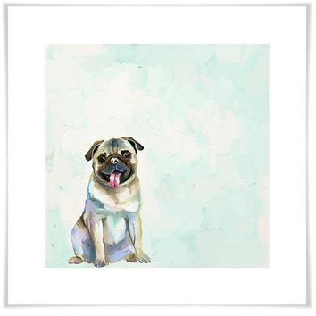 Best Friend - Pug Wall Art