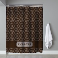 "Best Seller Luxury Coach CC Logo Brown Free Shipping Shower Curtain 60"" x 72"""