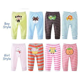 2017 new PP pants baby trousers bebe pant gift box for child 10 pcs/set=4 pants+6 towels infant cotton wear
