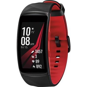 Samsung Gear Fit2 Pro SM-R365 Smart GPS Band - Wrist - Accelerometer, Pedometer, Barometer, Heart Rate Monitor, Gyro Sensor - Music Player - Heart Rate, Speed, Calories Burned, Sleep Quality - Samsung Exynos 3250 1 GHz Dual-core (2 Core) - 4 GB - 512 MB S