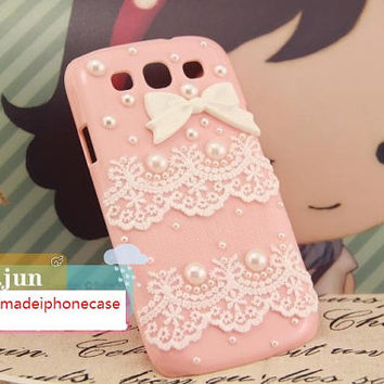 Galaxy S3 Case - New Handmade luxury bling bling Hard Case Cover For Samsung Galaxy SIII S3 I9300, lace samsung case, lace case