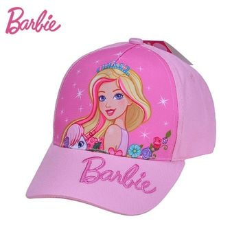 Barbie 2017 Kids Baseball Caps Baby Has Fasihon Children Girls Sun Caps Cotton Snapback Hat Kids gorras Adjustable